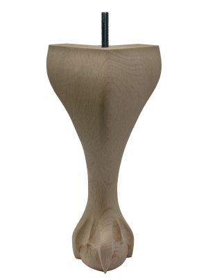 Claw and Ball Queen Anne Furniture Legs Tall with Dowel