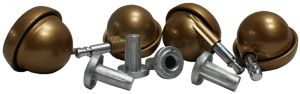 Ball Castors Kenrick Shepherd Matt Gold Thorn Pin Neck with Cast Socket