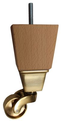 Brooke Square Furniture Legs with Large Brass Castors