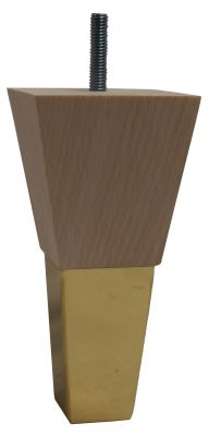 Mary Square Furniture Legs with Brass Slipper Cups