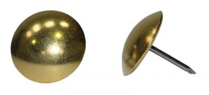 Polished Brass Upholstery Nails 24mm